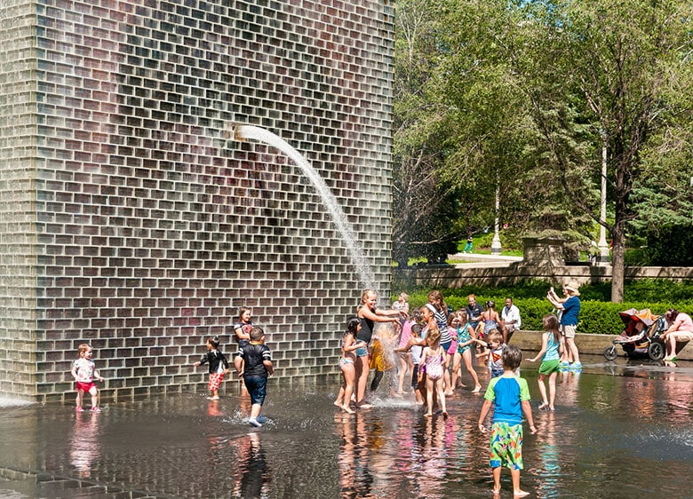 Children by Crown Fountain