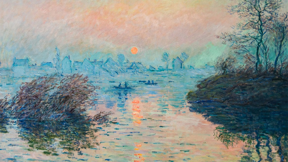 Monet landscape oil painting
