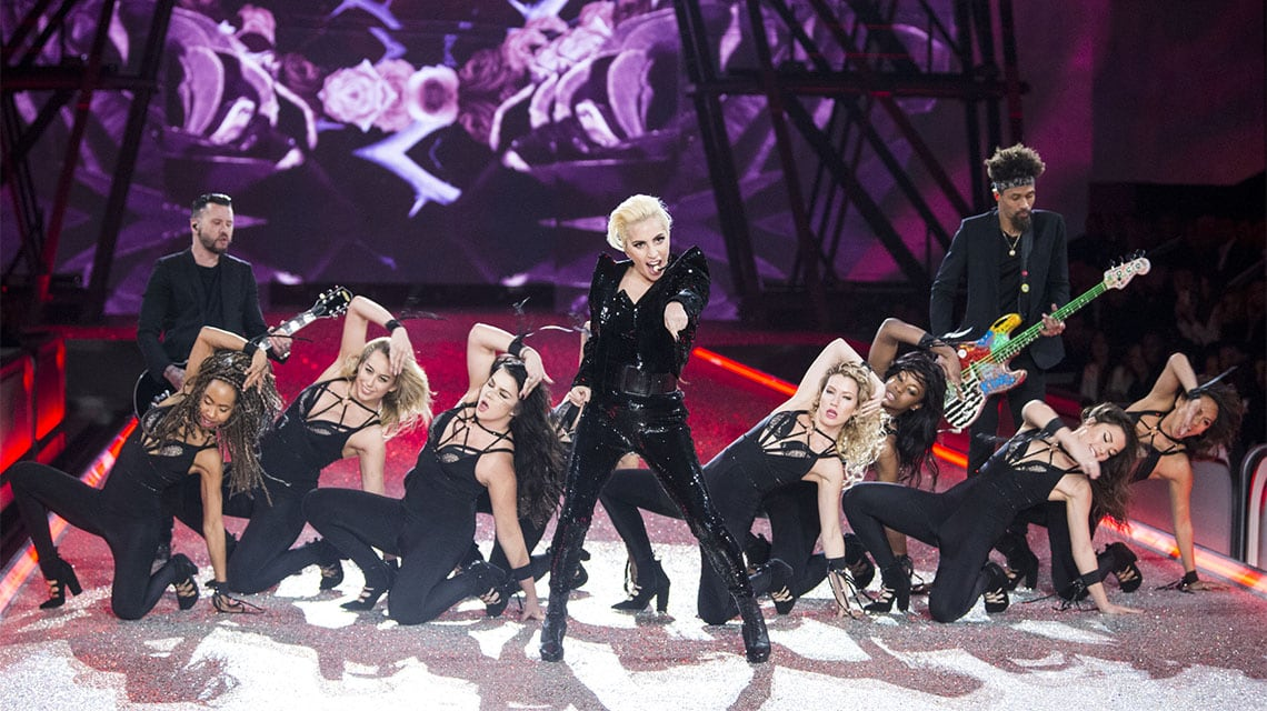 Lady Gaga performing in Paris